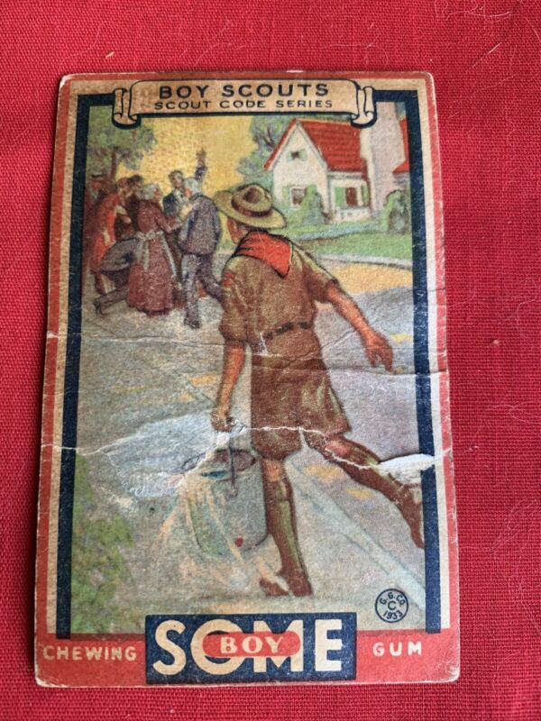 1933 GOUDEY GUM  BOY SCOUTS - #2 A Scout Is Helpful