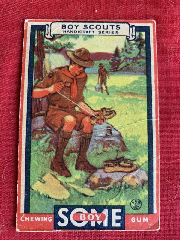 1933 GOUDEY GUM  BOY SCOUTS - #20 Homemade Moccassins