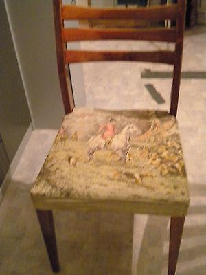 Alter Stuhl mahagonifarben DIY restaurieren Shabby Chic 002