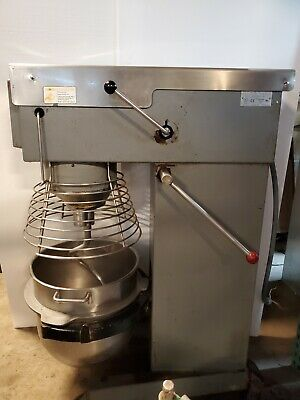 60 Qt Bakery Dough Mixer Varimixer W60 4hp Cage Stainless Bowl Hook 3 Phase