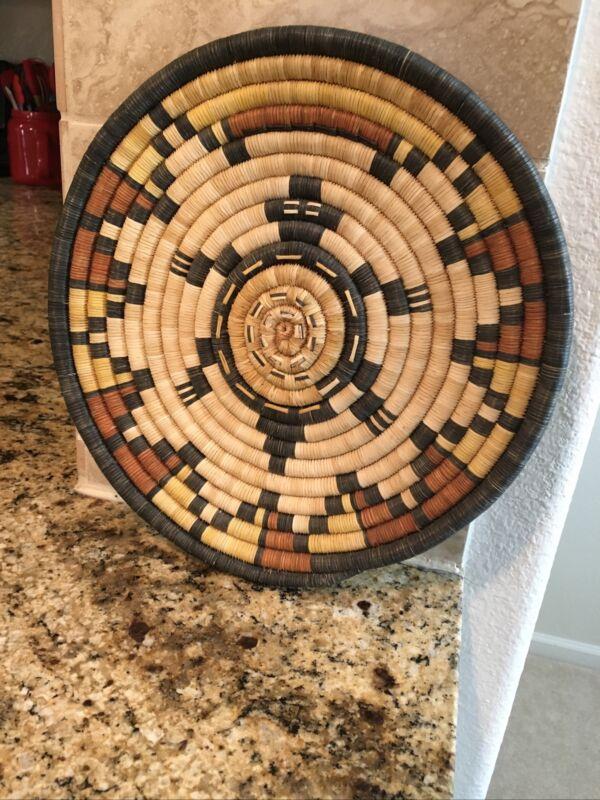 Second Mesa Hopi Coiled Raised Turtle Basket By Retta Adams