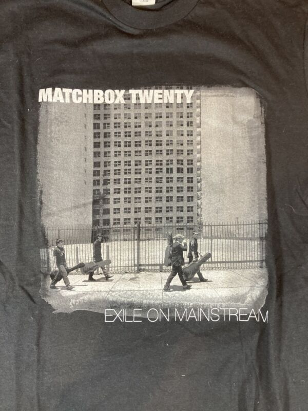 Matchbox Twenty 2008 'Exile In America Tour' Black Concert T-Shirt M Nice!