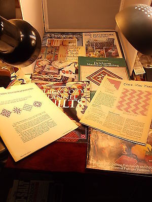 """LOT OF NANCY QUILTING BOOKS """"FINE PATCHWORK"""" """"COUNTRY QUILTS & SOFT FURNISHINGS"""""""