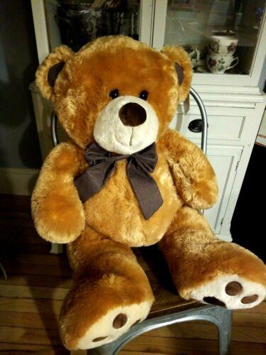 "30"" Large Brown Teddy Bear Plush Stuffed ~ BRAND NEW NWT"
