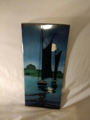 Rare - T&V Limoges France - Tressmann Vogt - Sailboat Tile Plaque - Large for sale  Greensboro