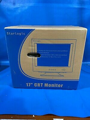 """StarLogic CRT Tube MONITOR 1280x1024 17"""" New in Box NOS Complete ~Retro Gaming"""