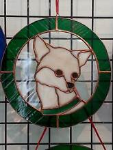 CHIHUAHUA HEADSTUDY - STAINED GLASS / LEADLIGHT Picton Wollondilly Area Preview