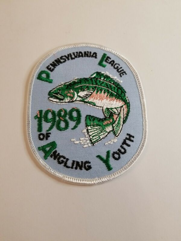 1989 Pennsylvania League of Angling Youth Fishing Patch...Free Shipping! VINTAGE