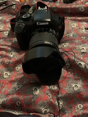 Canon EOS Rebel T3 DS126291 Digital Camera Canon EFS 18-55mm Lens used Good