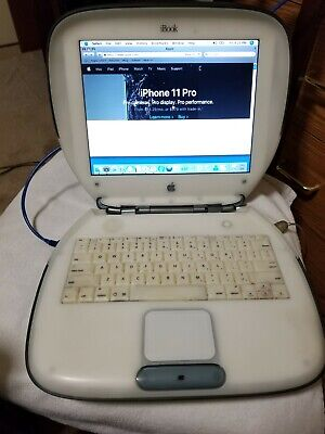 "Apple iBook M6411 12.1"" Laptop - M7721LL/A (September, 2000) 60gb hdd (466mhz)"