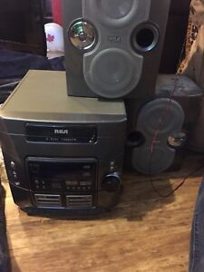 RCA 5 disc CD and tape player
