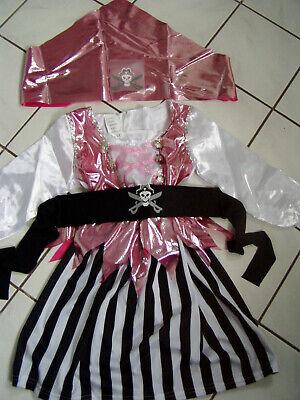 Piratenkostüm Mädchen S bis 116 Gr 3 - - Weibliche Piraten Kostüme