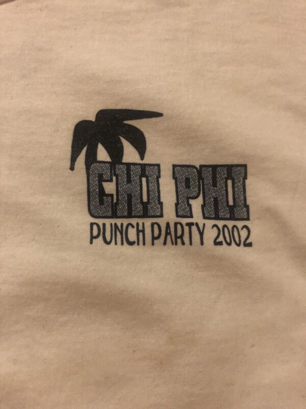 Vintage Sigma Chi Beta Phi 2002 Tshirt Size L sorority fraternity punch party
