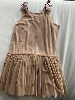 Stella McCartney Kids Dusty Rose Tulle Star Dress Size 10 Year