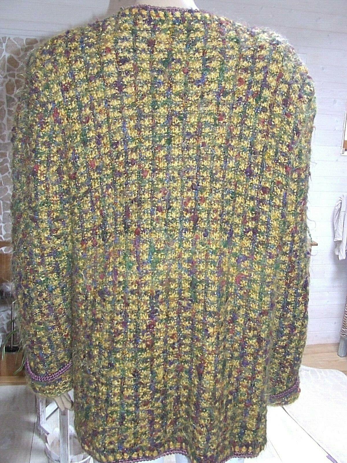 Magnifique pull vintage  tricoté main  avec mohair  georges picaud  taille 44