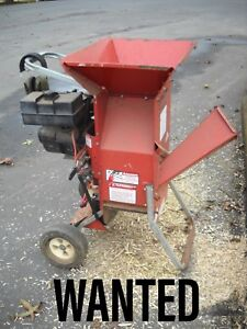 WANTED wood chipper branch shredder