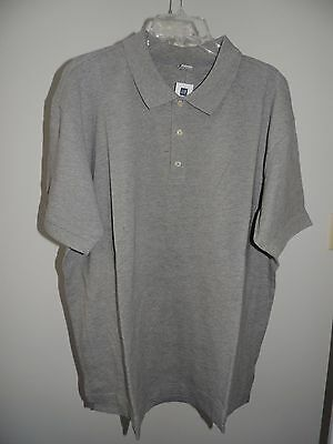 Nwt Mens Size Xxl   Gap   Heather Gray Polo Top Golf Shirt  Xx Large  T 4
