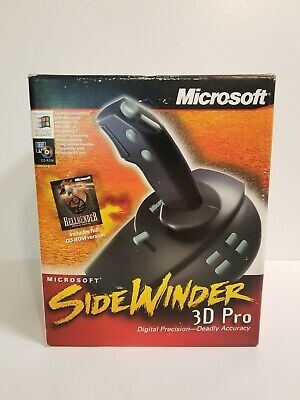 Microsoft SideWinder 3D Pro PC Gaming Joystick Open Box w/ Floppy, Manual & Box