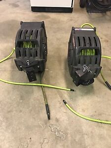 Two  Legacy  3/8x50 retractable air line