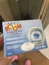 Sonic Bomb SBA475SS Sonic Boom Analog Alarm Clock New