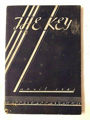 The Key Kappa & Kappa & Gamma Women's Fraternity Magazine - April 1941 - RARE!