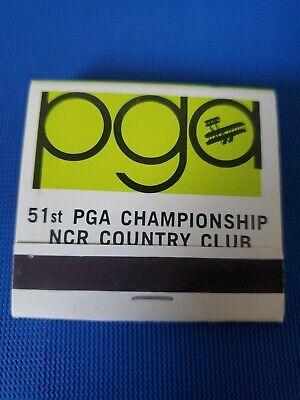 Vintage 1969 51st PGA Championship NCR Country Club Golf Matchbook Unstruck