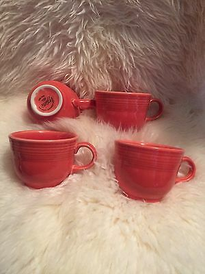 Fiestaware Fiesta Ware Mugs-Set of 4 Fiesta - Fiestaware Flamingo