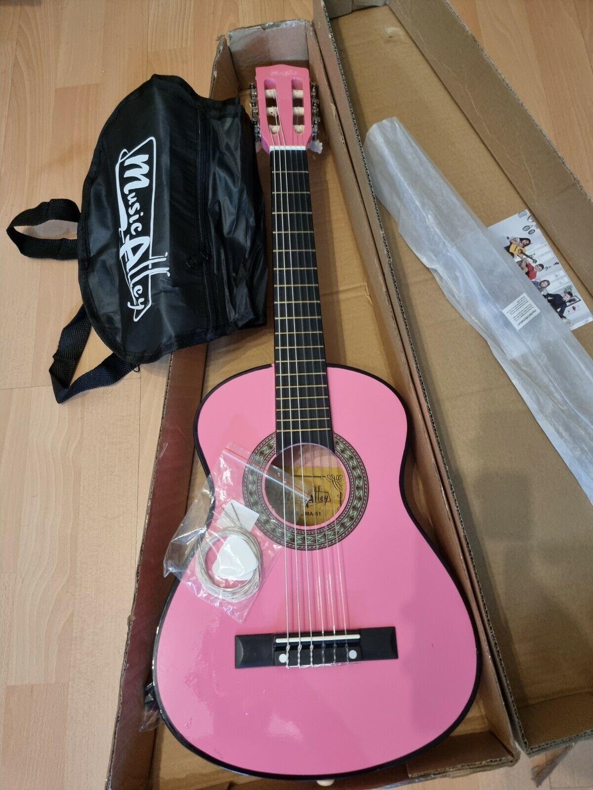 Musik Alley Kinder Gitarre / Junior Gitarre Mädchen , pink,  neu