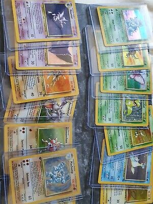Pokemon Card Rare Holo + 25 Pokemon Cards Bundle Pack Base Jungle Fossil Team...