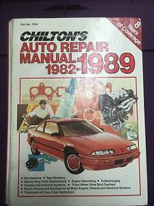 Chilton Auto Repair Manual 1982-1989