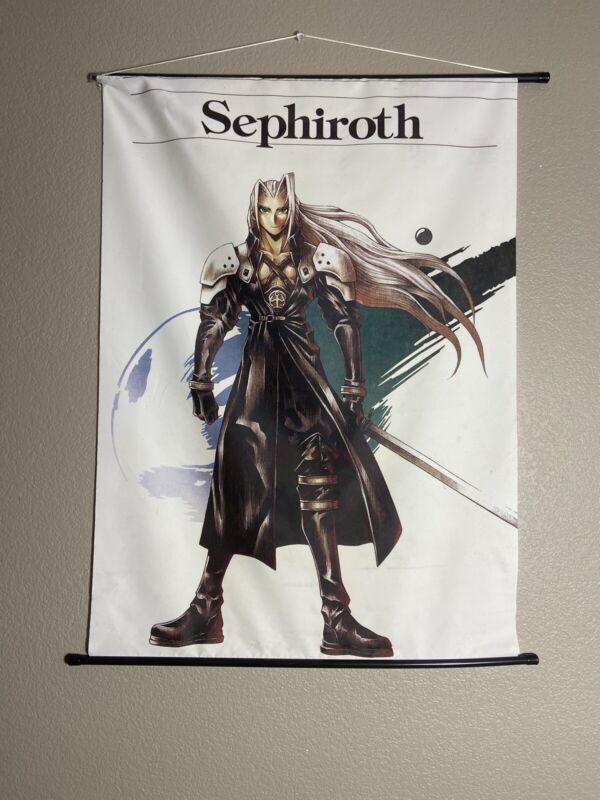 Cloud Sephiroth Final Fantasy VII 7 Poster Wall Scroll Advent Remake FFVII