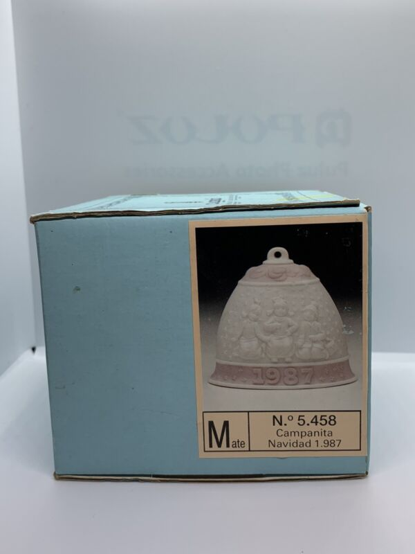 Lladro 1987 Annual Christmas Bell Ornament Children In Snow FREE SHIPPING