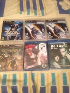 PS3 games and blue ray DVDs
