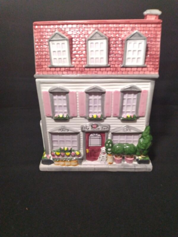 The Flower Shop Cookie Jar By Sherwood 1999