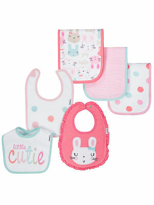 Gerber Baby Girls Organic 6 Piece Burp Cloth and Bib Set NEW Adorable Organic Baby Bib