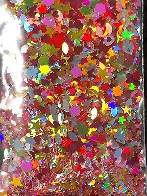 Dot Flowers (Glitter Mix THANKSGIVING laser flower happy face star heart dot butterfly)