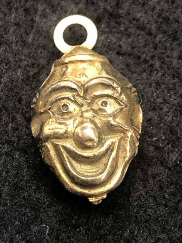 Cracker Jacks Gold Clown Face Vintage Charm