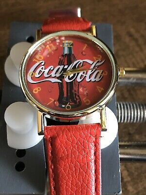 COCA-COLA Analog Quartz Watch, Bottle Face With Second Hand Running Strong