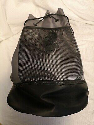 Versace Parfums Grey Black Bucket Backpack Bag Good Used Condition