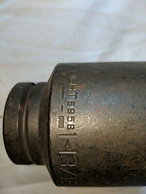 Usa Made Wright Tool 6958 1-1316 With 34 Drive 6 Point Deep Impact Socket