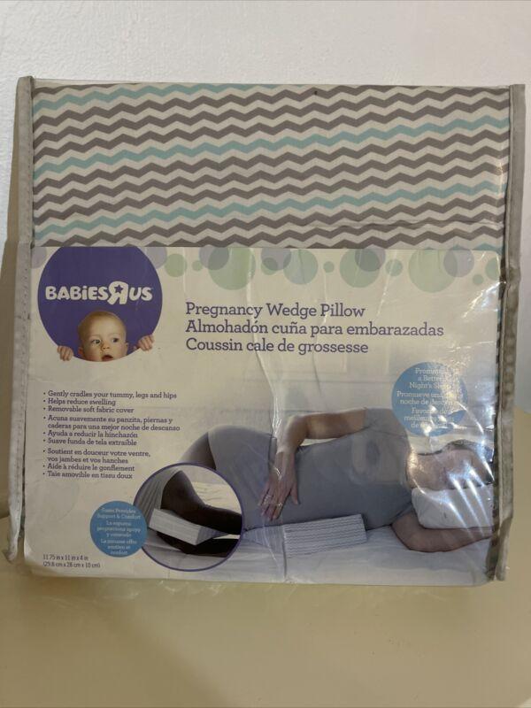 Babies R Us Chevron Aqua Crib Wedge Foam Maternity Comfort Pillow Damage Package