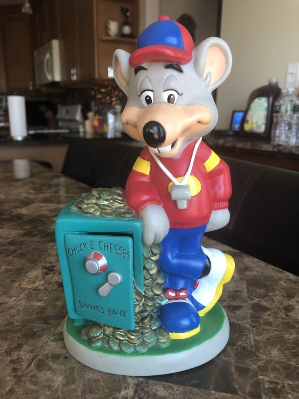 Vintage Chuck E Cheese Coin Saving Bank - ShowBiz Pizza Time