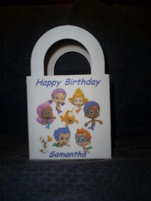 Bubble Guppies Personalized Birthday Party 12 Favor Boxes / goody bags (Personalized Party Favor Bags)