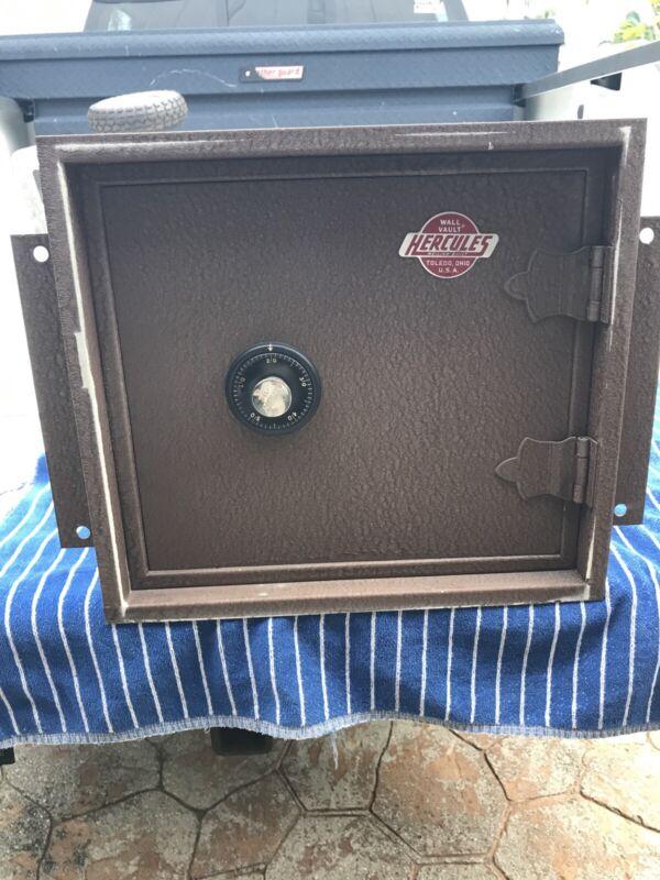 Vintage Meilink Hercules Wall Vault Combination Locking Safe Ohio, USA Mint Cond