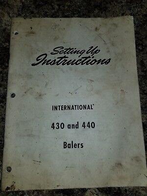 International 430 440 Baler Ihc Ih Manual Setting Up Instructions Assembly