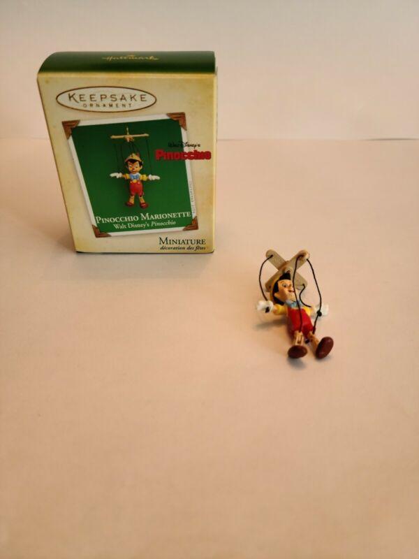 Hallmark Ornament Pinocchio Marionette Miniature 2004