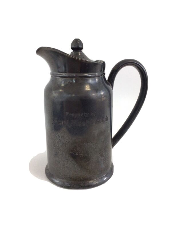 ANTIQUE HOTEL MUEHLEBACH KANSAS CITY SILVERPLATE Insulated Pitcher Coffee