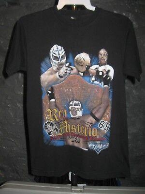 Rey Mysterio WWE Black 4-2-06 World Heavyweight Champion Youth Large T-Shirt Black Youth Heavyweight T-shirt