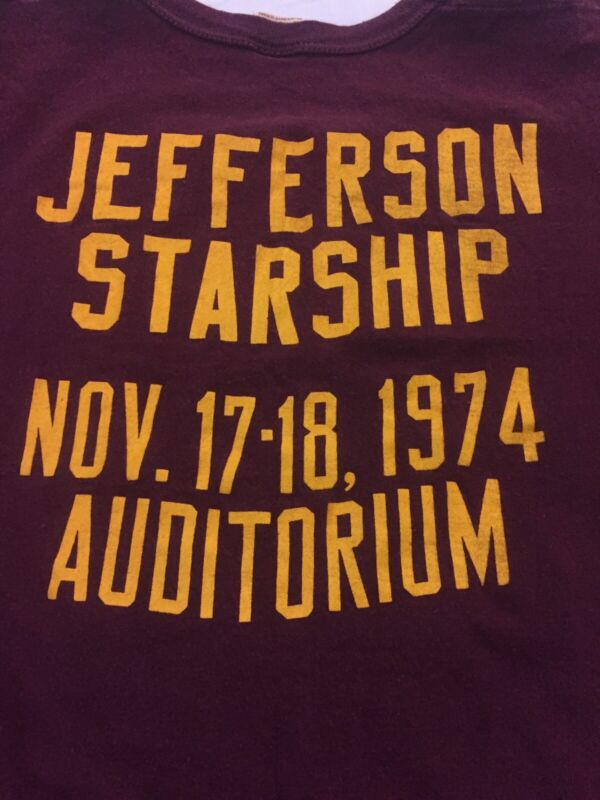 Jefferson Starship Vintage Concert T-shirt 1974 Chicago Production Company Crew