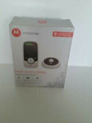 Motorola Audio Baby Monitor MBP160 Wireless White Black Portable Parent Unit